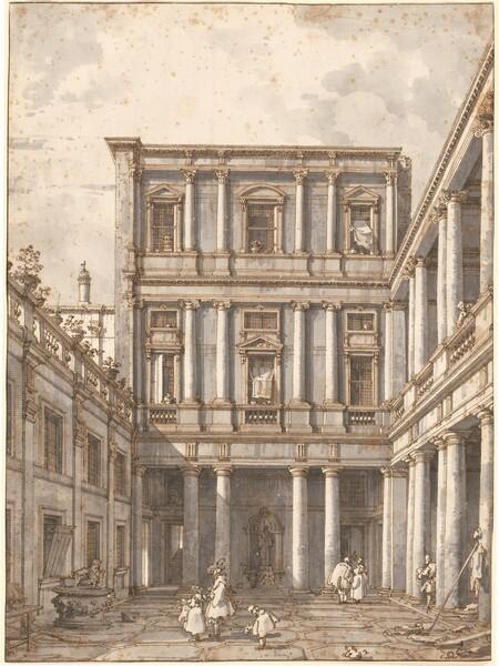 A Venetian Courtyard, in the Procuratie Nuove