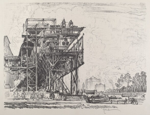 Gas Works from the Canal, Berlin