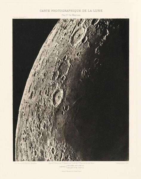 Carte photographique de la lune, planche I (Photographic Chart of the Moon, plate I)