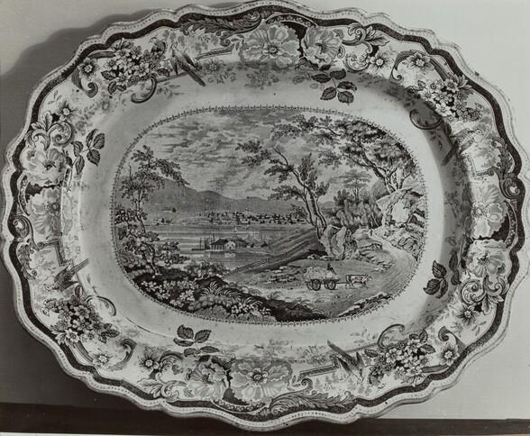 Plate - Newburgh on the Hudson
