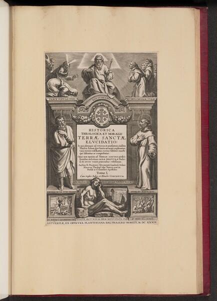 Title Page for Franciscus Aguilonius, Historica Theologica et Moralis Terrae Sanctae Elvcidatio