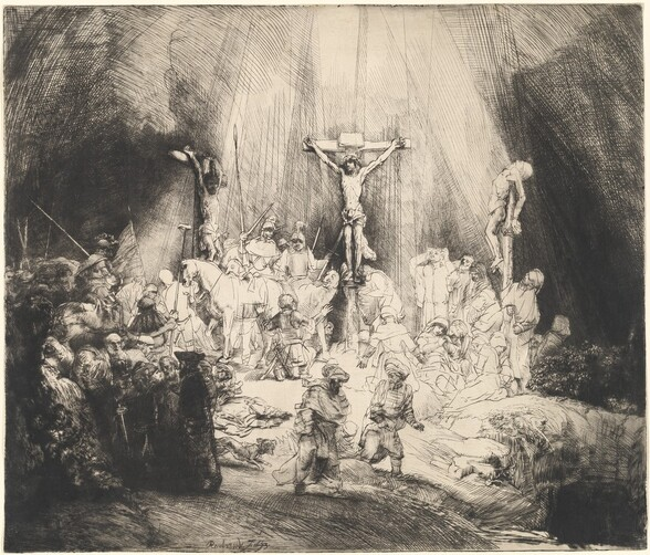 Christ Crucified between the Two Thieves (The Three Crosses)