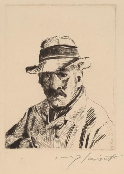 Selbstbildnis im Strohhut, als Brustbild (Self-Portrait in a Straw Hat, Bust Length)
