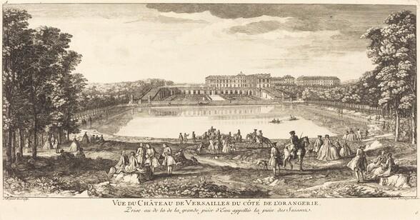 Vue du Chateau de Versailles du Cote de l
