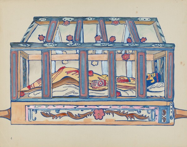 Plate 4: Christ in Sepulchre: From Portfolio Spanish Colonial Designs of New Mexico