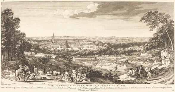 Vue du Paysage de la Maison Royalle de Saint Cir