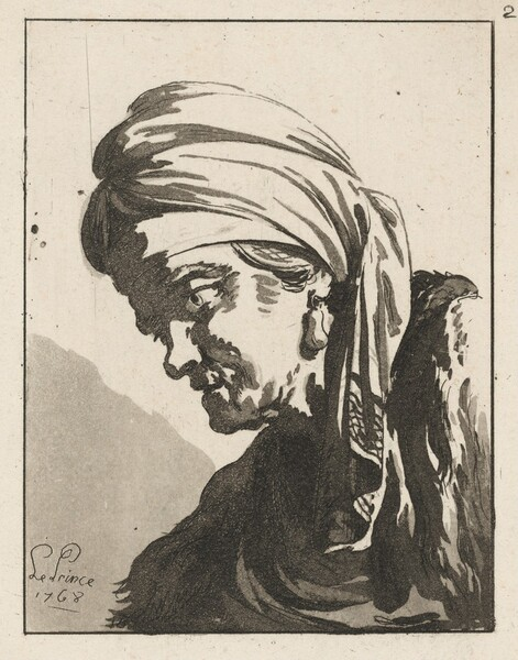 Head of a Drooping Old Woman