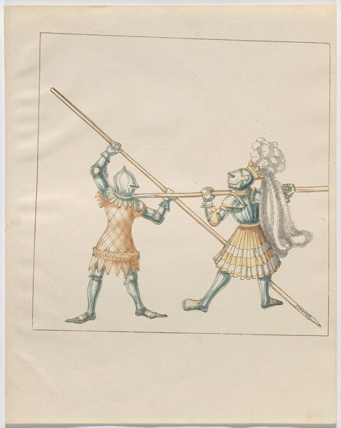 Freydal, The Book of Jousts and Tournament of Emperor Maximilian I: Combats on Foot (Jousts)(Volume III): Plate 131