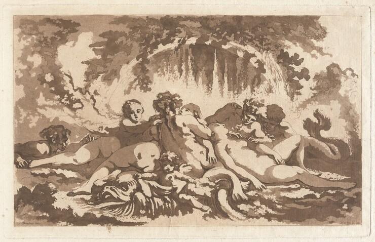Jean-Claude-Richard, Abbé de Saint-Non, François Boucher, Naiads and Tritons, 17661766