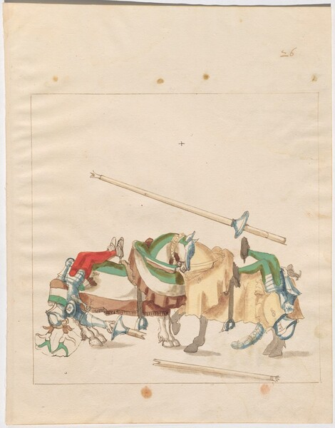 Freydal, The Book of Jousts and Tournaments of Emperor Maximilian I: Combats on Horseback (Jousts)(Volume I): Plate 25