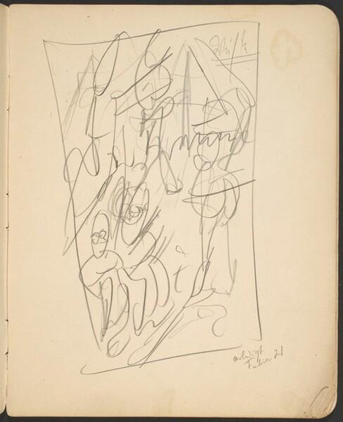 Kompositionsskizze mit Bezeichnung (Sketch with Inscription) [p. 7]