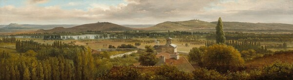 Panoramic Landscape near the River Moselle