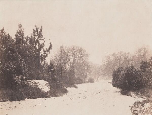 Barbizon Roadway in Snow