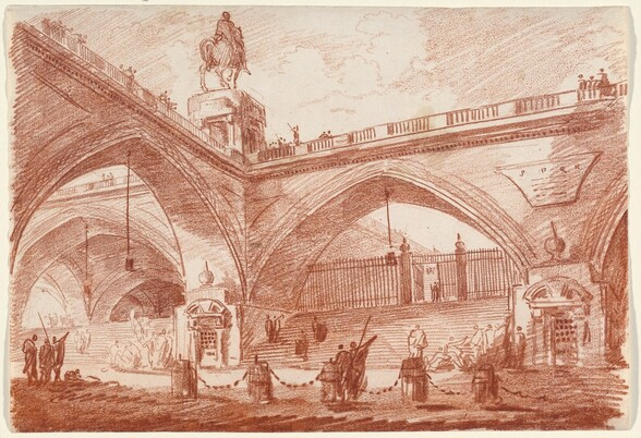 Architectural Fantasy with a Triumphal Bridge