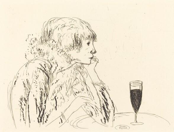 Berthe in a Cafe, Boulevard Sebastopol (Berthe dans un cafe, Boulevard Sebastopol)