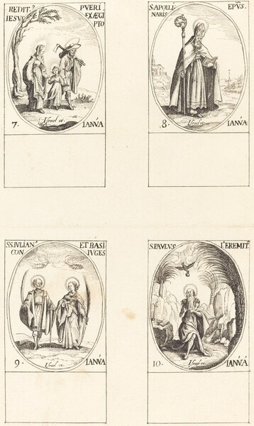 Return from Egypt; St. Apollinaire; St. Julian and Basilissa; St. Paul Hermit