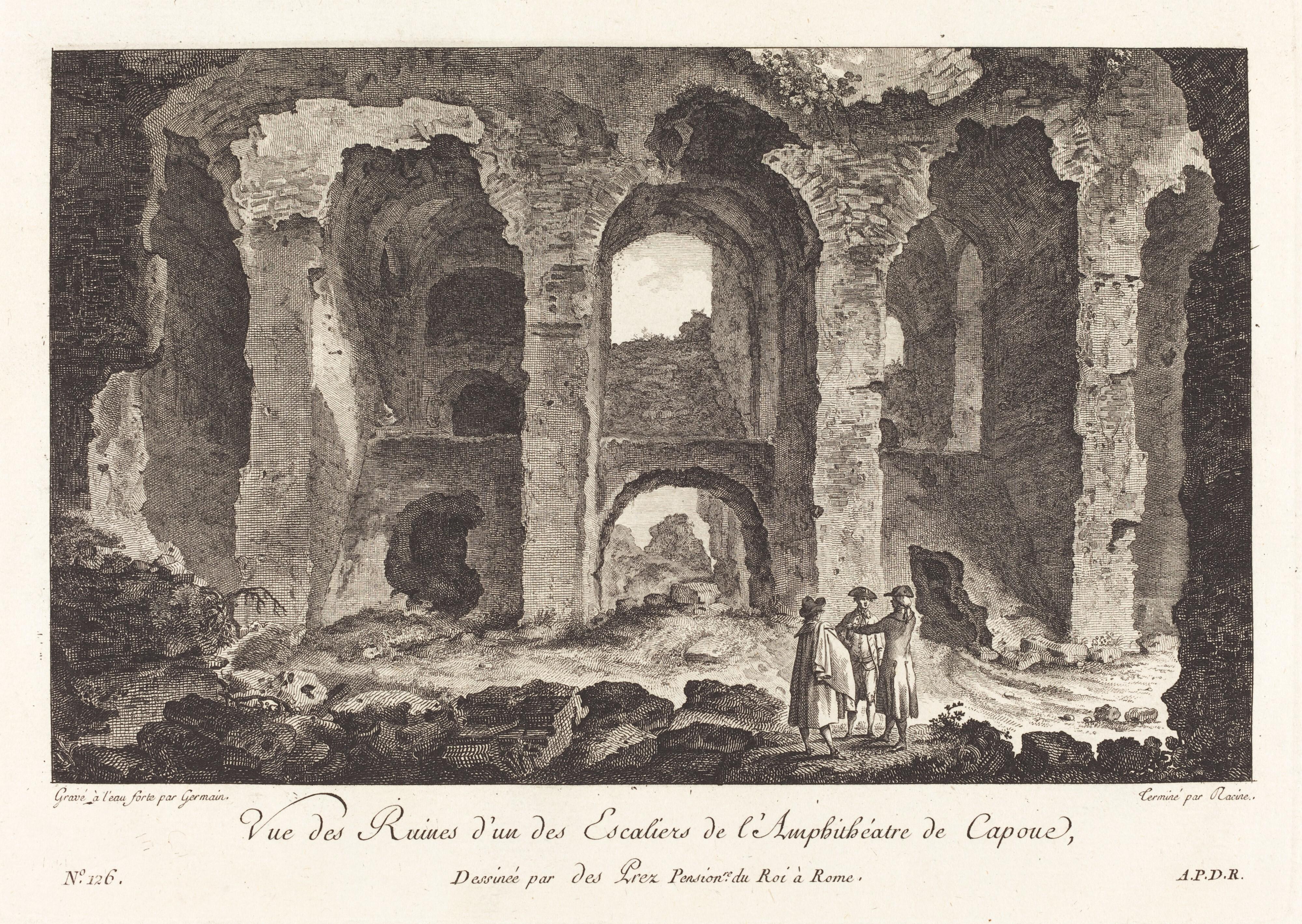 Vue des Ruines d'un des Escaliers de l'Amphithéatre de Capue