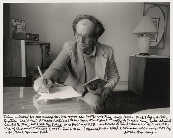 John Wieners for me among top ten American poets visiting my room Park Plaza Hotel, Boston. We