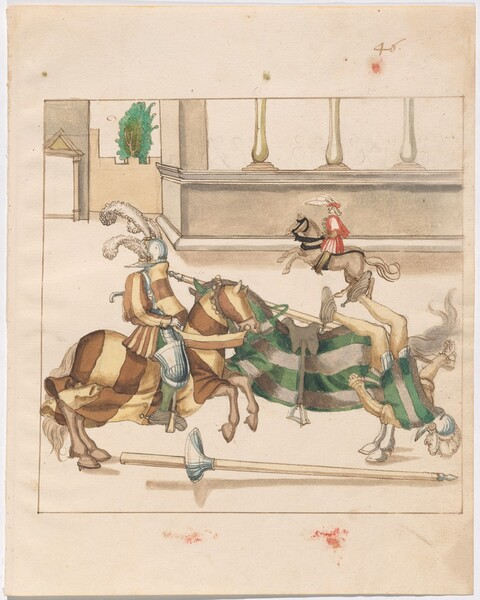 Freydal, The Book of Jousts and Tournaments of Emperor Maximilian I: Combats on Horseback (Jousts)(Volume I): Plate 43