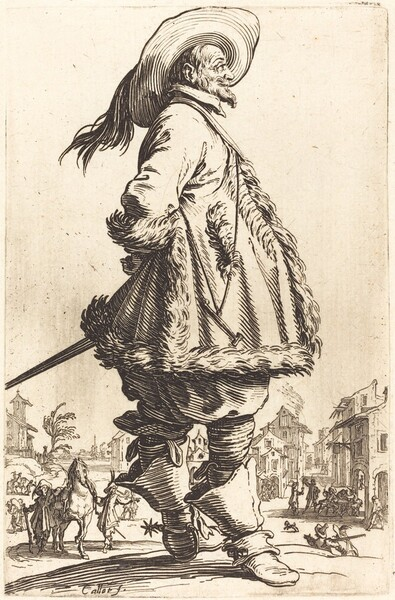 Noble Man with Mantle Trimmed in Fur,  Holding his Hands Behind his Back