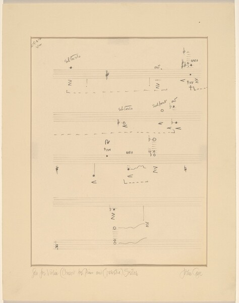Solo for Violin (Concert for Piano and Orchestra): Sketch
