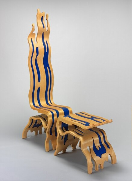 Brushstroke Chair, Wood