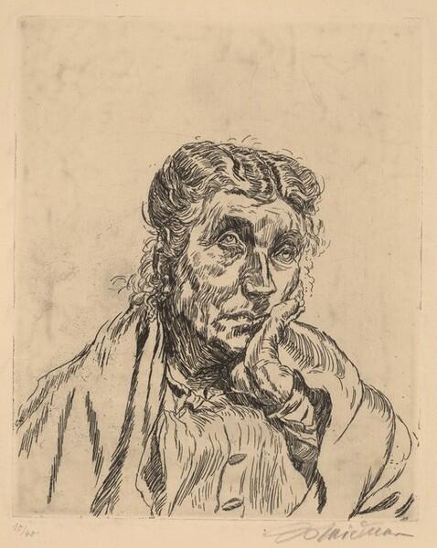 Porträt Alte Frau (Rosa Meidner II)