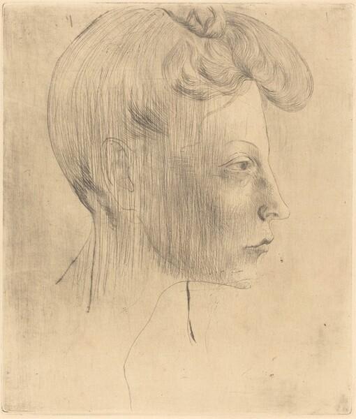 Head of a Woman in Profile (Tête de Femme de Profil)
