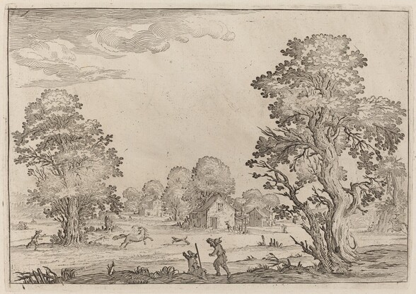 Landscape with Runaway Horses