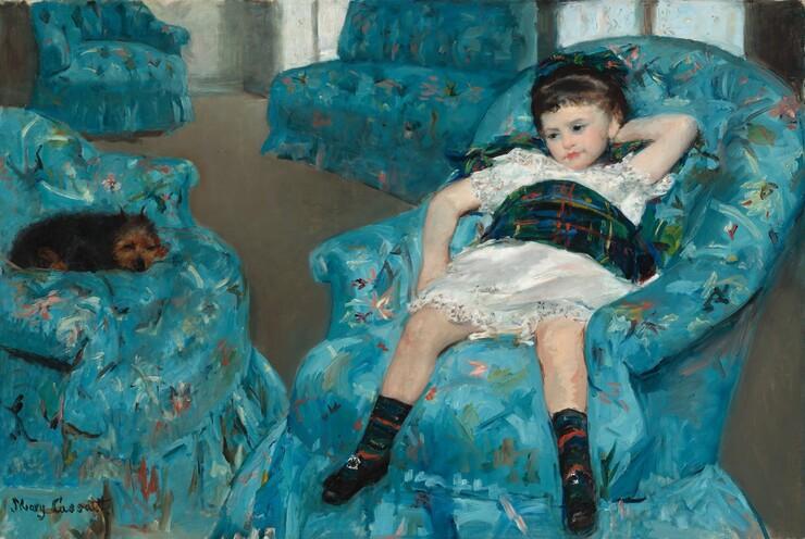 Mary Cassatt, Little Girl in a Blue Armchair, 1878