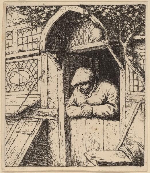 Peasant Leaning on His Doorway