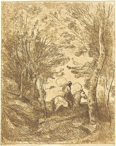 Horseman in the Woods, Large Plate (Le Grand Cavalier sous bois)