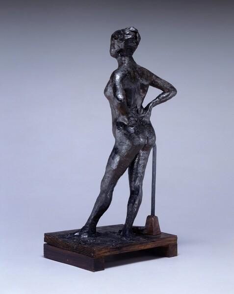 Dancer at Rest, Hands on Her Hips, Left Leg Forward