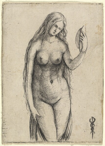 Nude Woman Holding a Mirror (Allegory of Vanitas)
