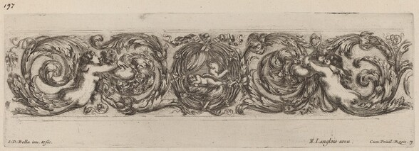 Ornamental Frieze with Cupid and Psyche