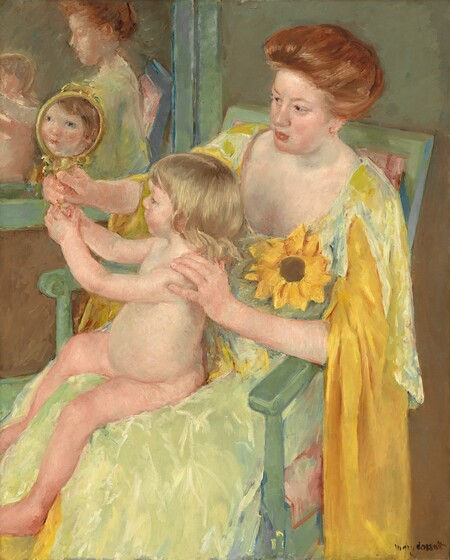 <p>Mary Cassatt, Woman with a Sunflower, c. 1905