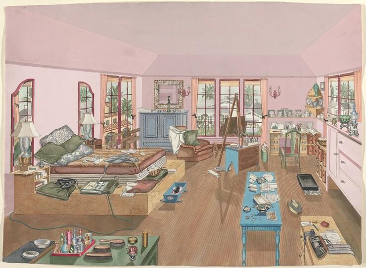 Perkins Harnly, Bedroom, 1940, 1935/1942