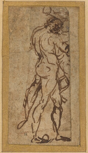Two Nudes Fighting