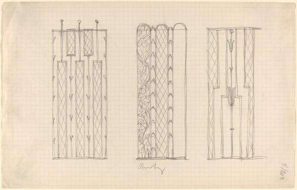 Three Designs for Ornamental Screens