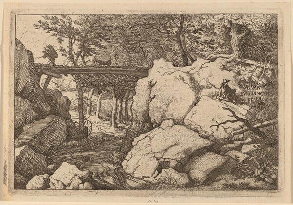 Goat on a small Bridge