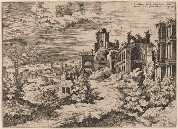 Ruins on the Palatine with a Panoramic Landscape