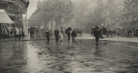 A Wet Day on the Boulevard—Paris