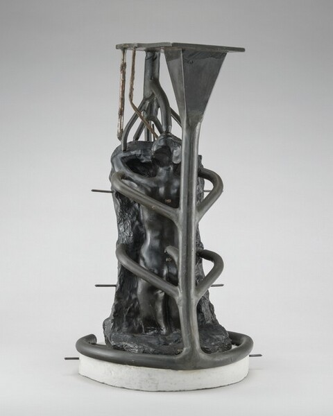 Lost-Wax Casting Display: wax model with conduits [sixth of ten steps]