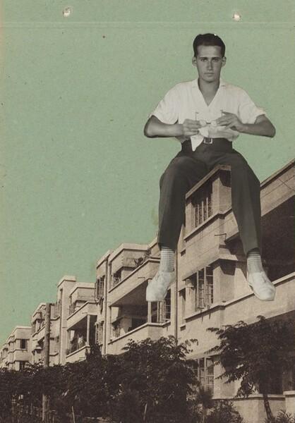 Self-Portrait on Building