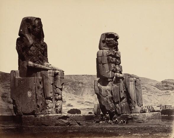 Colosses de Memnon à Thèbes (Colossi of Memnon at Thebes)