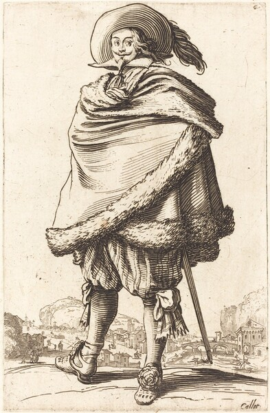 Noble Man Wrapped in a Mantle Trimmed with Fur