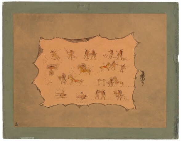 Facsimile of the Robe of Mah-to-toh-pa - Mandan