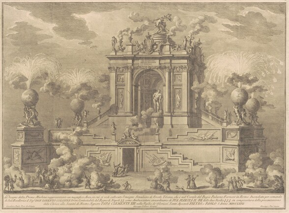 The Prima Macchina for the Chinea of 1767: A Triumphal Arch with the Farnese Hercules