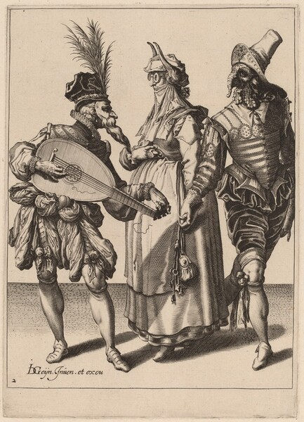 A Couple Addressed by a Lute Player