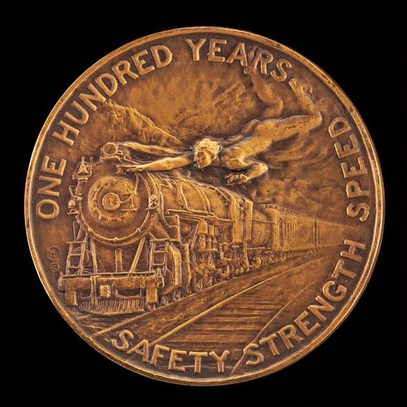 Baltimore and Ohio Railroad Centennial Medal [reverse]